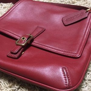 Vintage red Coach crossbody bag